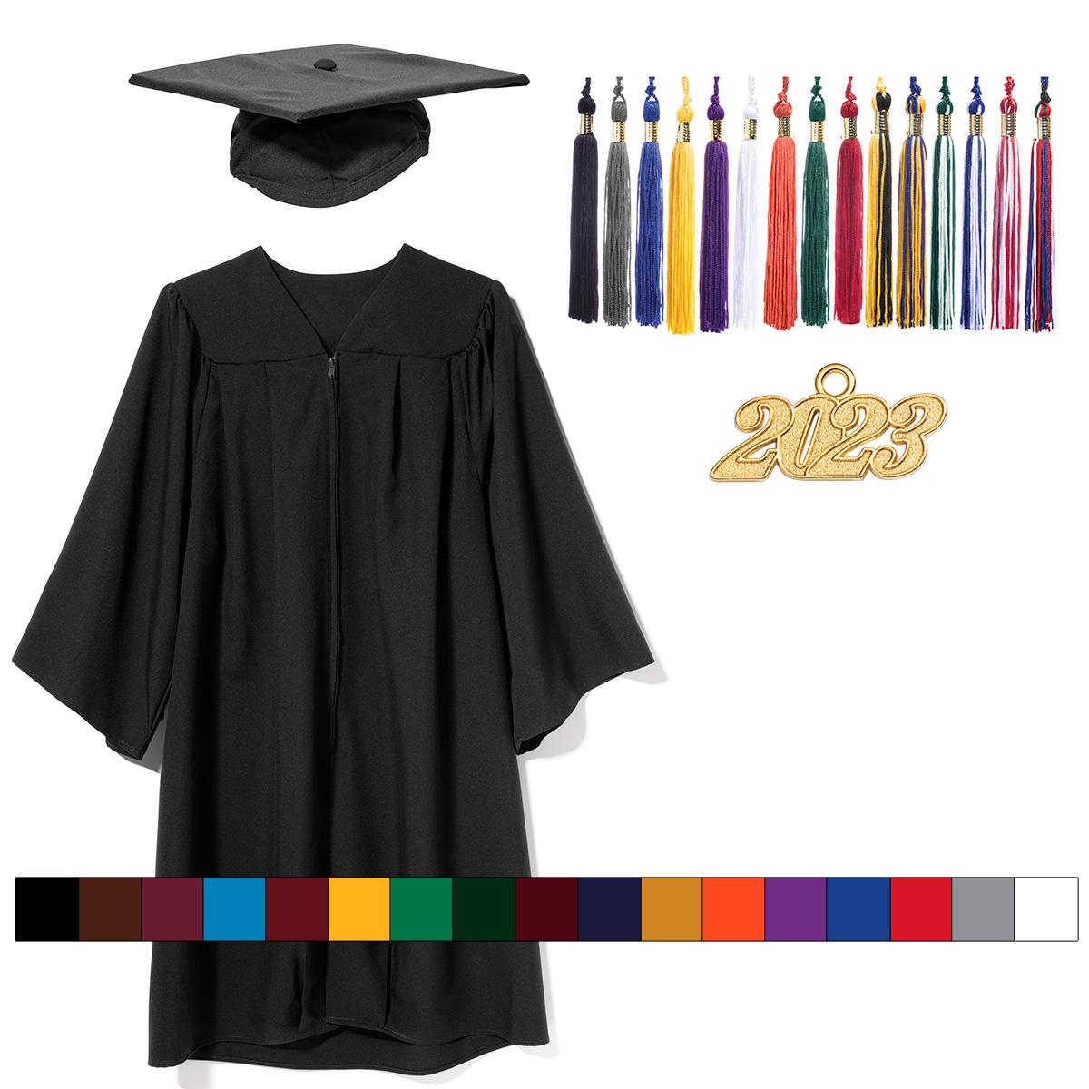 13 Colors Annhiengrad Unisex Adult Matte Graduation Gown Cap with Tassel 2019