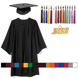 Adult Graduation Cap, Gown, & Tassel - Matte