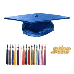 Adult Graduation Cap & Tassel Set - Shiny