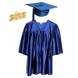 Child Graduation Cap, Gown, Tassel Package - Shiny